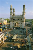 The Char Minar (Charminar) triumphal arch in Hyderabad, Andhra Pradesh, India    Stock Photo - Premium Rights-Managednull, Code: 841-02704521