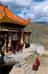 A Tibetan nunnery at Garze, Sichuan Province, China, Asia    Stock Photo - Premium Rights-Managed, Artist: Robert Harding Images, Code: 841-02704757