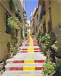 Spanish steps in Calpe, Valencia, Spain, Europe    Stock Photo - Premium Rights-Managed, Artist: Robert Harding Images, Code: 841-02705502