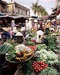 Women in conical hats selling fruit and vegetables in busy Central market, Hoi An, Central Vietnam, Vietnam, Indochina, Southeast Asia, Asia    Stock Photo - Premium Rights-Managed, Artist: Robert Harding Images, Code: 841-02705720