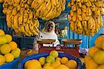 Woman selling fruit in a market stall in Gonder, Gonder, Ethiopia, Africa    Stock Photo - Premium Rights-Managed, Artist: Robert Harding Images, Code: 841-02705872