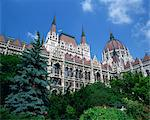 The Parliament Building in the Pest area of Budapest, Hungary, Europe    Stock Photo - Premium Rights-Managed, Artist: Robert Harding Images, Code: 841-02706011