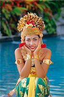 Portrait of a Legong Dancer, Bali, Indonesia    Stock Photo - Premium Rights-Managednull, Code: 841-02706232