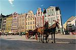 The Rynek (Town Square), in Wroclaw, Silesia, Poland, Europe    Stock Photo - Premium Rights-Managed, Artist: Robert Harding Images, Code: 841-02706289