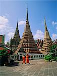 Wat Po and monks, Bangkok, Thailand, Asia    Stock Photo - Premium Rights-Managed, Artist: Robert Harding Images, Code: 841-02707043