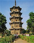 Tenth century stone pagoda in Kaiyuan Temple, Quanzhou, Fujian, China    Stock Photo - Premium Rights-Managed, Artist: Robert Harding Images, Code: 841-02707083