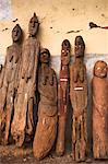 Famous carved wooden effigies of Waga (Wakka) chiefs and warriors, now becoming rare as many have been stolen by art collectors, Konso, southern area, Ethiopia, Africa    Stock Photo - Premium Rights-Managed, Artist: Robert Harding Images, Code: 841-02707360
