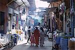 Street scene in the souks of the Medina, Marrakech (Marrakesh), Morocco, North Africa, Africa