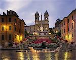 The Spanish Steps illuminated in the evening, Rome, Lazio, Italy, Europe    Stock Photo - Premium Rights-Managed, Artist: Robert Harding Images, Code: 841-02707779