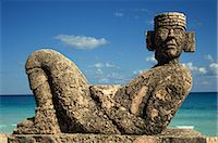 Statue of Chac-Mool, Cancun, Quitana Roo, Mexico, North America    Stock Photo - Premium Rights-Managednull, Code: 841-02708082