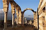 Aanjar, Umayyad remains, Bekaa Valley, Lebanon, Middle East