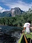 Angel Falls from Rio Churun, Canaima National Park, UNESCO World Heritage Site, Venezuela, South America    Stock Photo - Premium Rights-Managed, Artist: Robert Harding Images, Code: 841-02708165