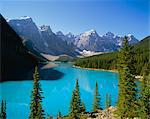Moraine Lake, Valley of Ten Peaks, Banff National Park, Rocky Mountains, Alberta, Canada    Stock Photo - Premium Rights-Managed, Artist: Robert Harding Images, Code: 841-02709240