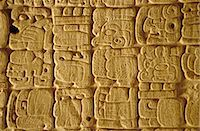 Mayan carvings on Stela, Tikal, Guatemala, Central America    Stock Photo - Premium Rights-Managednull, Code: 841-02709542