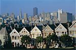 The Painted Ladies, grand 19th century houses, Alamo Square, San Francisco, California, United States of America    Stock Photo - Premium Rights-Managed, Artist: Robert Harding Images, Code: 841-02709795