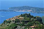 The town of Eze and the coast of the Cote d'Azur, Provence, France, Mediterranean, Europe    Stock Photo - Premium Rights-Managed, Artist: Robert Harding Images, Code: 841-02710446