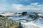 Hadrian's Wall, UNESCO World Heritage Site, in snowy landscape, Northumberland, England, United Kingdom, Europe    Stock Photo - Premium Rights-Managed, Artist: Robert Harding Images, Code: 841-02710858