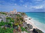 Mayan ruins of Tulum, Yucatan Peninsula, Mexico, North America    Stock Photo - Premium Rights-Managed, Artist: Robert Harding Images, Code: 841-02711143