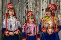 Portrait of Sami girls and woman, Lapps, in traditional costume for indigenous tribes meeting, at Karesuando, Sweden, Scandinavia, Europe    Stock Photo - Premium Rights-Managednull, Code: 841-02711648