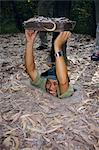 Vietnamese man entering tunnel, Chu Chi tunnels, Vietnam, Indochina, Southeast Asia, Asia    Stock Photo - Premium Rights-Managed, Artist: Robert Harding Images, Code: 841-02711653