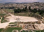 The Forum, the oval piazza, Jerash, Jordan, Middle East    Stock Photo - Premium Rights-Managed, Artist: Robert Harding Images, Code: 841-02711891