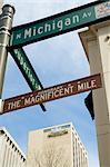 Michigan Avenue or The Magnificent Mile, famous for its shopping, Chicago, Illinois, United States of America