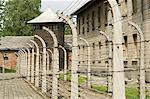 Electric fence, Auschwitz concentration camp, UNESCO World Heritage Site, Oswiecim near Krakow (Cracow), Poland, Europe    Stock Photo - Premium Rights-Managed, Artist: Robert Harding Images, Code: 841-02712512