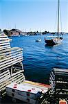 Lobster traps, Living Maritime Museum, Mystic Seaport, Connecticut, United States of America    Stock Photo - Premium Rights-Managed, Artist: Robert Harding Images, Code: 841-02712765