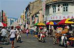 Busy street, Georgetown, Penang, Malaysia    Stock Photo - Premium Rights-Managed, Artist: Robert Harding Images, Code: 841-02712787