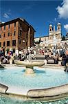 Barcaccia fountain, Piazza di Spagna, Rome, Lazio, Italy, Europe    Stock Photo - Premium Rights-Managed, Artist: Robert Harding Images, Code: 841-02713151