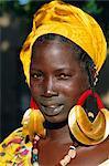Young Peul tribe woman, Djenne, Mali, Africa