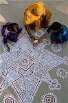 Women painting a mandana on the ground, village near Jodhpur, Rajasthan state, India, Asia    Stock Photo - Premium Rights-Managed, Artist: Robert Harding Images, Code: 841-02714207