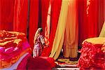 Sari garment factory, Rajasthan, India    Stock Photo - Premium Rights-Managed, Artist: Robert Harding Images, Code: 841-02714294