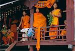 Novice Buddhist monks at the monastery, Battambang, Cambodia, Indochina, Asia