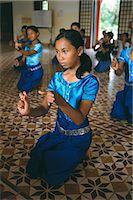 Apsara dance, Khmer dance school, Phnom Penh, Cambodia, Indochina, Southeast Asia, Asia    Stock Photo - Premium Rights-Managednull, Code: 841-02714347