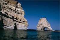 Volcanic rock formations on the south eastern coast, near Kleftiko, Milos, Cyclades islands, Greece, Mediterranean, Europe    Stock Photo - Premium Rights-Managednull, Code: 841-02714929