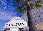 Carlton Brasserie sign, Cannes, France    Stock Photo - Premium Rights-Managed, Artist: Robert Harding Images, Code: 841-02715827