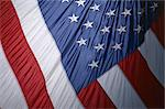 Close-up of the American flag, stars and stripes, United States of America, North America