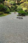 A dry stone garden in Hokoku-ji Temple, founded in 1334 by grandfather of Ashikaga Takauji the first Ashikaga Shogun, Kamakura City, Kanagawa Prefecture, Honshu Island, Japan, Asia    Stock Photo - Premium Rights-Managed, Artist: Robert Harding Images, Code: 841-02716890
