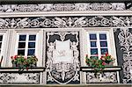 Detail of decoration on Renaissance house in Janska Street, Mala Strana, Prague, Czech Republic, Europe    Stock Photo - Premium Rights-Managed, Artist: Robert Harding Images, Code: 841-02716985