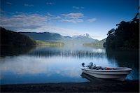 Fishing Boat on Lago Espejo, Siete Lagos region, Nahuel Huapi National Park, Rio Negro, Argentina, South America    Stock Photo - Premium Rights-Managednull, Code: 841-02719566