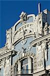 Art Nouveau architecture, 10b Elizabetes iela, designed by Mikhail Eisenstein, Riga, Latvia, Baltic States, Europe    Stock Photo - Premium Rights-Managed, Artist: Robert Harding Images, Code: 841-02719725