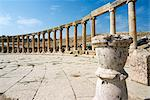 Oval Plaza, colonnade and Ionic columns, Jerash (Gerasa), a Roman Decapolis city, Jordan, Middle East    Stock Photo - Premium Rights-Managed, Artist: Robert Harding Images, Code: 841-02720146