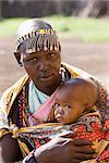 Masai woman and baby, Masai Mara National Reserve, Kenya, East Africa, Africa    Stock Photo - Premium Rights-Managed, Artist: Robert Harding Images, Code: 841-02720789