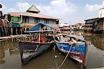 Boats, village at old harbour, Sunda Kelapa, Jakarta, Indonesia, Southeast Asia, Asia    Stock Photo - Premium Rights-Managed, Artist: Robert Harding Images, Code: 841-02721306