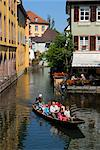 Boat trip, Petite Venise (Little Venice), Colmar, Haut Rhin, Alsace, France, Europe    Stock Photo - Premium Rights-Managed, Artist: Robert Harding Images, Code: 841-02721493