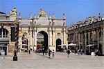 Arc de Triomphe, Place Stanislas, UNESCO World Heritage Site, Nancy, Lorraine, France, Europe    Stock Photo - Premium Rights-Managed, Artist: Robert Harding Images, Code: 841-02721571