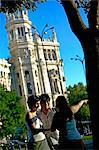 Tourists in Plaza de Cibeles (Cibeles Square), Madrid, Spain, Europe    Stock Photo - Premium Rights-Managed, Artist: Robert Harding Images, Code: 841-02721781