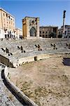 Roman theatre, Sant'Oronzo Square, Lecce, Lecce province, Puglia, Italy, Europe    Stock Photo - Premium Rights-Managed, Artist: Robert Harding Images, Code: 841-02722061