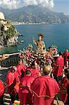 St. Maria Maddalena procession, Atrani, Amalfi coast, Campania, Italy, Europe    Stock Photo - Premium Rights-Managed, Artist: Robert Harding Images, Code: 841-02722075